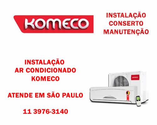 Instalação ar condicionado Komeco