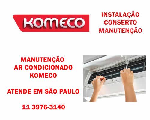 Manutenção ar condicionado Komeco